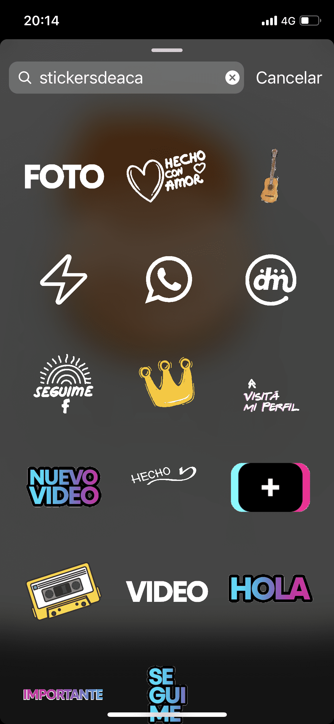 Stickers para Instagram y Tik Tok