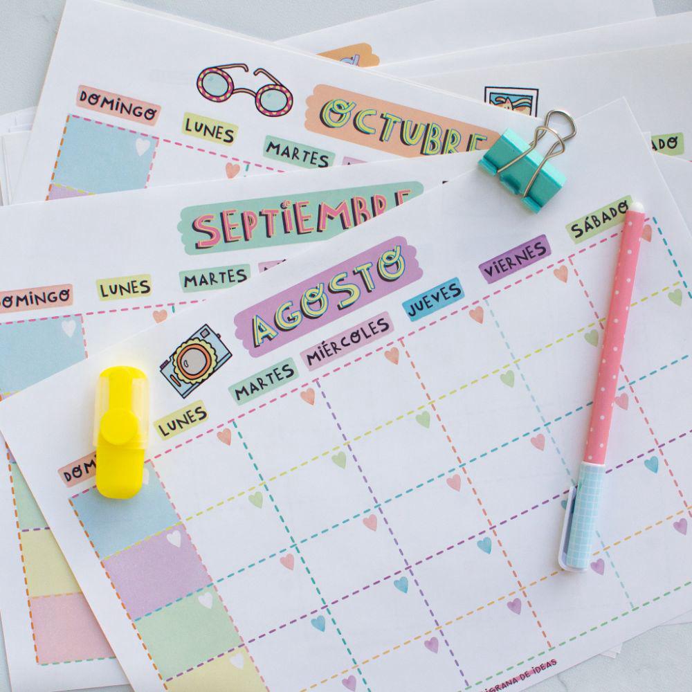 Calendario mensual perpetuo imprimible!