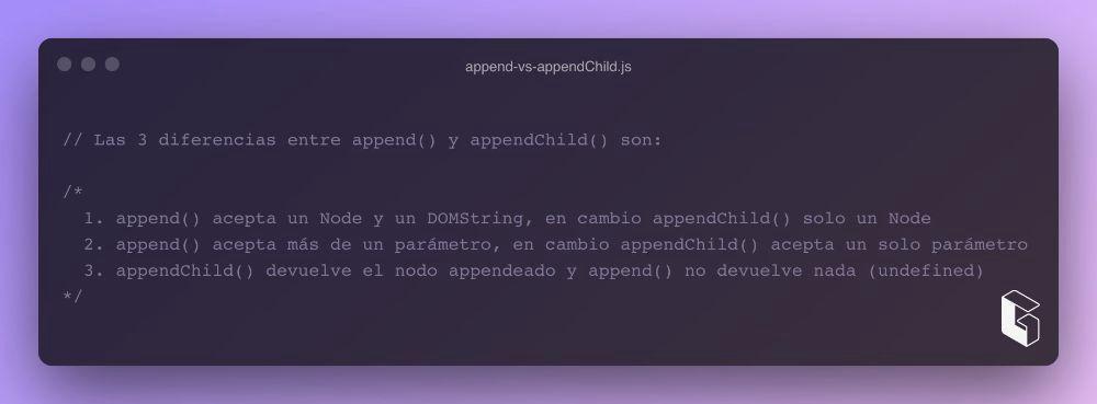 append() vs appendChild() Parte III