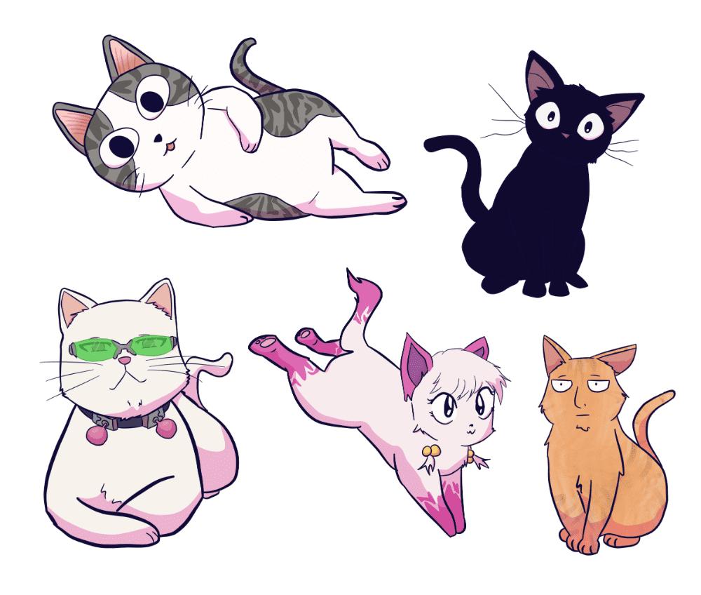Gatitos anime